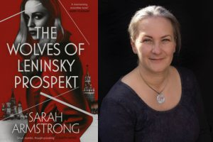 A photo of the author and the cover of her new book