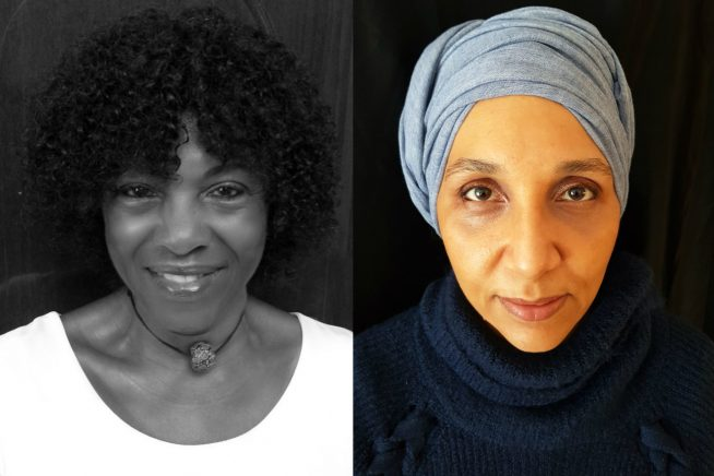 A picture of writers Margaret Busby and Leila Aboulela