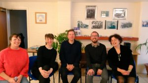 Photo of writers on the Crossing Borders Continental Breakfast