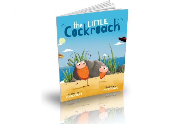 Cover for Susie Violet's book, the Little Cockroach