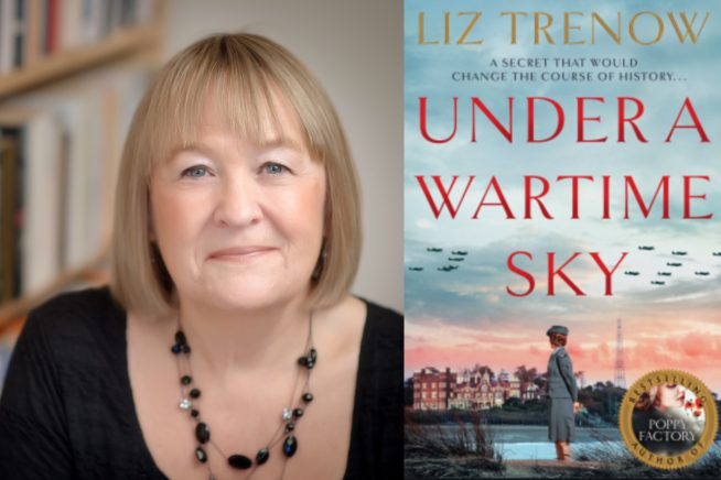 Liz Trenow and Under a Wartime Sky cover